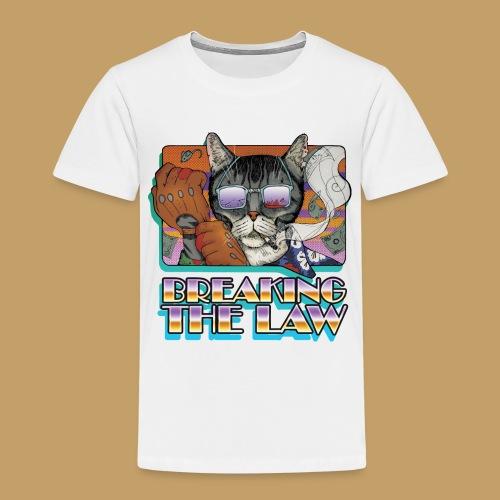 Crime Cat in Shades - Braking the Law - Koszulka dziecięca Premium
