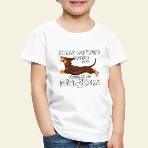 Mäyräkoira LK Koiria 2 - Lasten premium t-paita