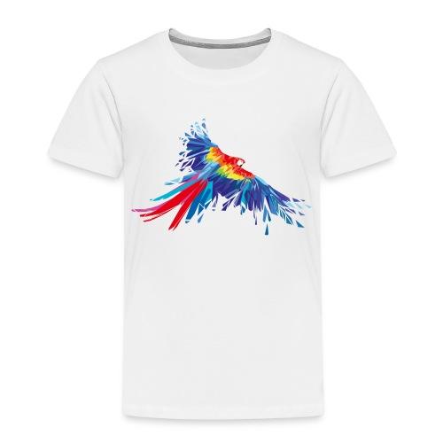 Papagei Federn Aras Vogel Vögel Flügel parrot bird - Kinder Premium T-Shirt