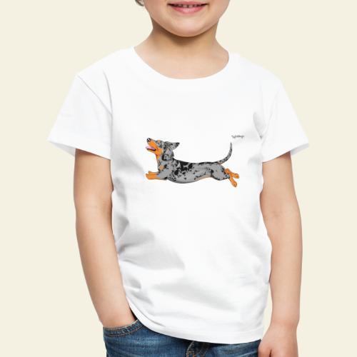 Mäyräkoira Timantti LK 5 - Lasten premium t-paita