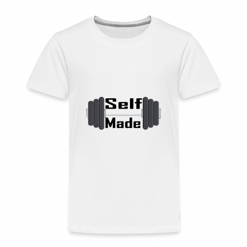 Self Made Black Text - Kids' Premium T-Shirt