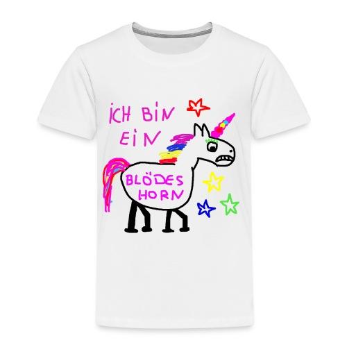 Einhorn blödes Horn - Kinder Premium T-Shirt