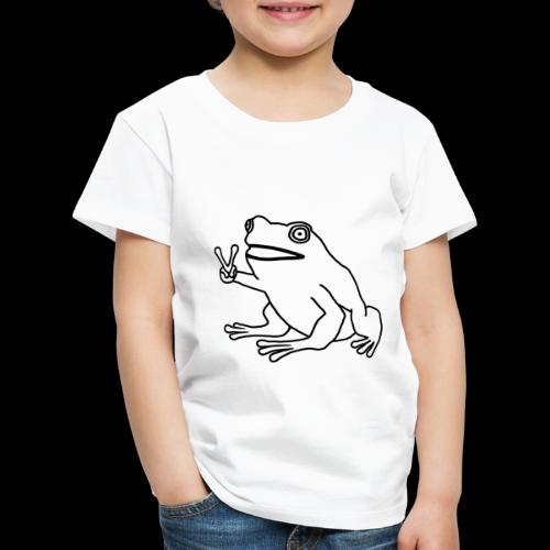Funny Animal Frog Frosch - Kinder Premium T-Shirt