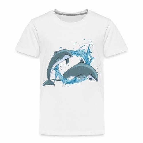 DELFINI CON ACQUASPLASH - Maglietta Premium per bambini