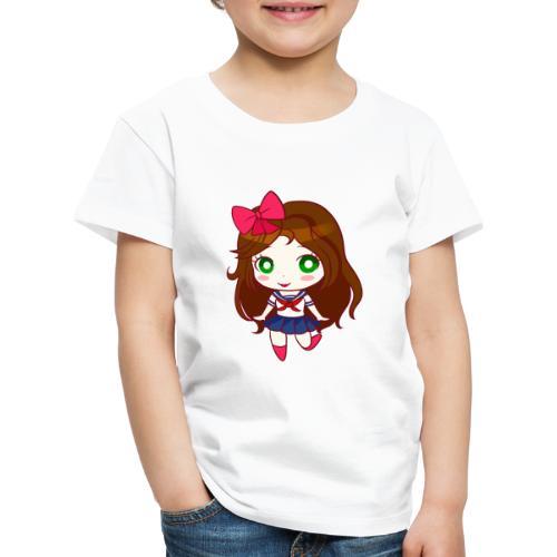 MiniKiria School Girl - Maglietta Premium per bambini