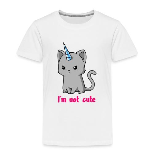 Einhorn Katze Ich bin nicht süß - Kinder Premium T-Shirt