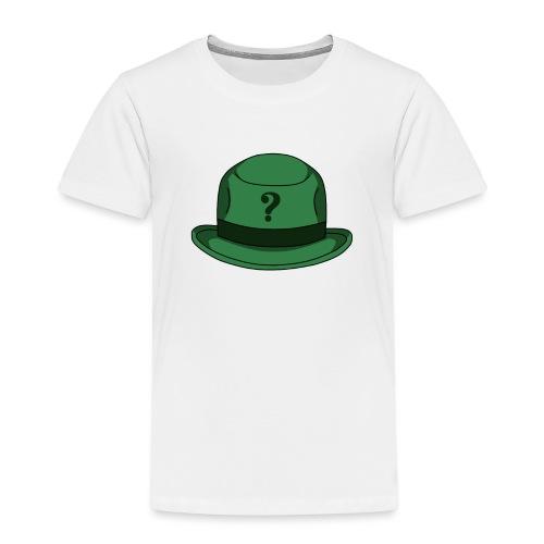 Grüner Rätsel Hut Riddler - Kinder Premium T-Shirt