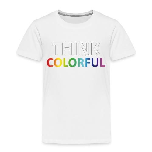 think colorful - Kinder Premium T-Shirt