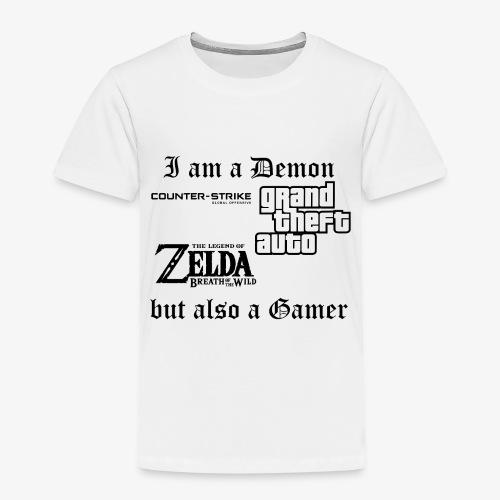 Demon also gamer - Kinder Premium T-Shirt
