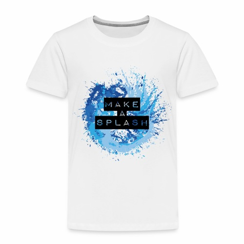 Make a Splash - Aquarell Design in Blau - Kinder Premium T-Shirt