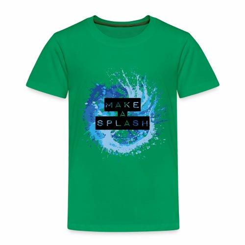 Make a Splash - Aquarell Design in Blau - Kinder Premium T-Shirt