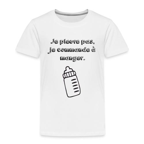 Je commande à manger - T-shirt Premium Enfant