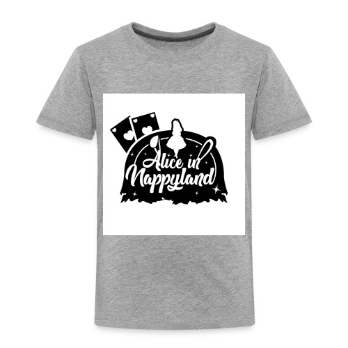 Alice in Nappyland TypographyWhite with background - Kids' Premium T-Shirt