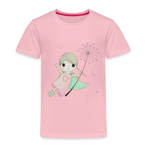 meisje aan uitgebloeide paardenbloem - Kinderen Premium T-shirt