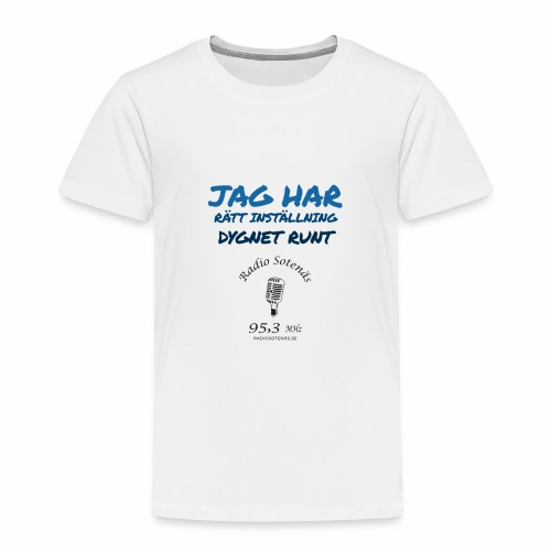 Jag har rättinstallning dygnet runt - Premium-T-shirt barn