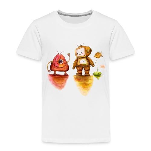 Robot Private Conversation - Kinderen Premium T-shirt