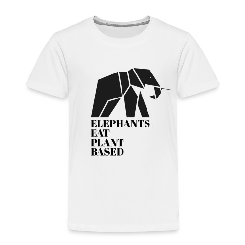 Elephants Eat Plant Based - Kinder Premium T-Shirt