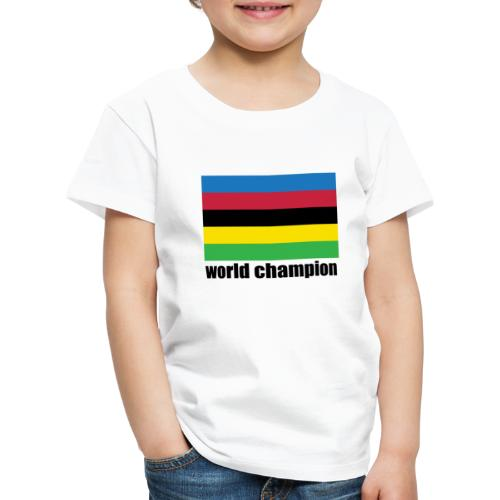 world champion cycling stripes - Kinderen Premium T-shirt