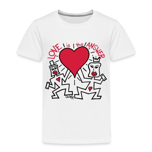 Love is the Answer by Oliver Schibli - Kids' Premium T-Shirt