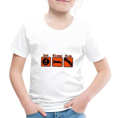 Eat - Sleep - Ride - T-shirt Premium Enfant
