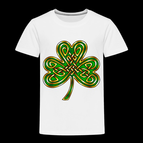 Celtic Knotwork Shamrock - Kids' Premium T-Shirt