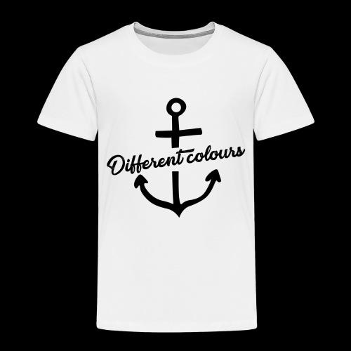 Different Colours Black Logo - Maglietta Premium per bambini