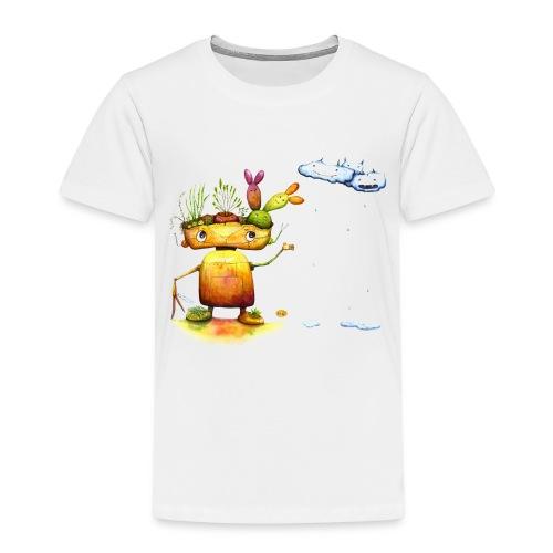 Robot with his plant friends - Kinderen Premium T-shirt