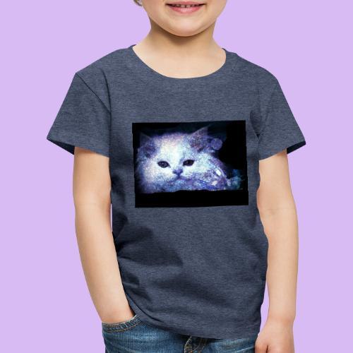 Gatto bianco glitter - Maglietta Premium per bambini