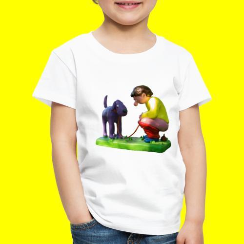 Mannetje Poep vrijstaand - Kinderen Premium T-shirt