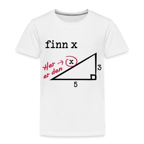 finn x - Premium T-skjorte for barn