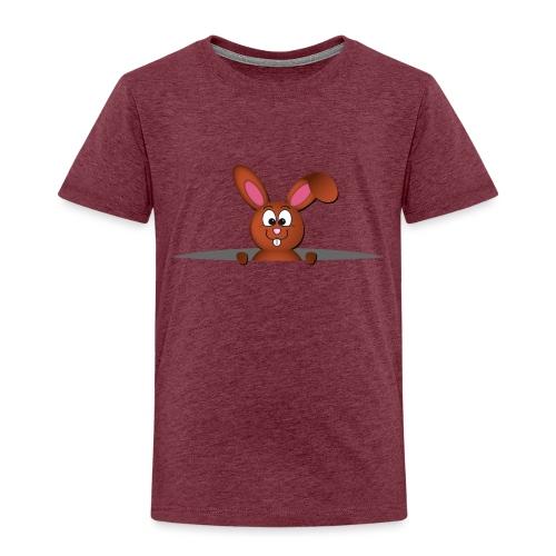 Cute bunny in the pocket - Maglietta Premium per bambini