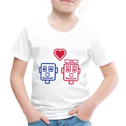 Motif Robots Amoureux - T-shirt Premium Enfant
