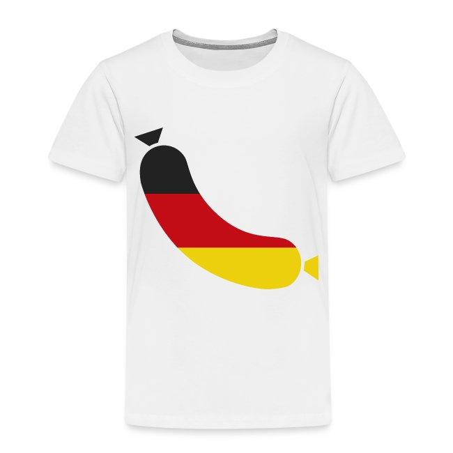 German flag in a sausage - Deutsche wurst