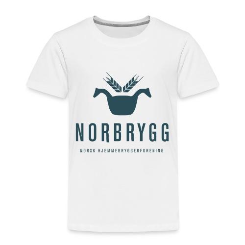 Mørk blå NB png - Premium T-skjorte for barn