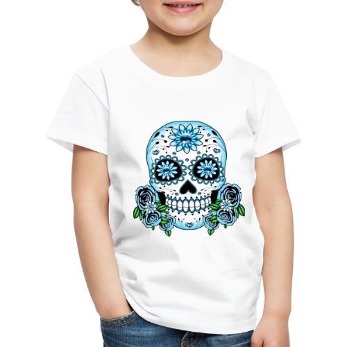 Blue Sugar Skull - Kids' Premium T-Shirt