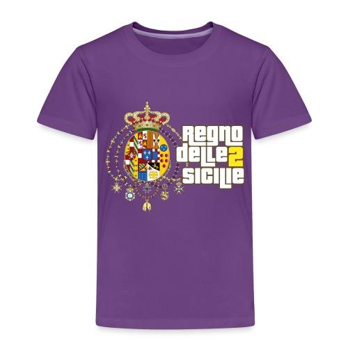 regno delle 2 sicilie testo bianco - Maglietta Premium per bambini