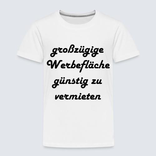 großzügige Werbefläche - Kinder Premium T-Shirt