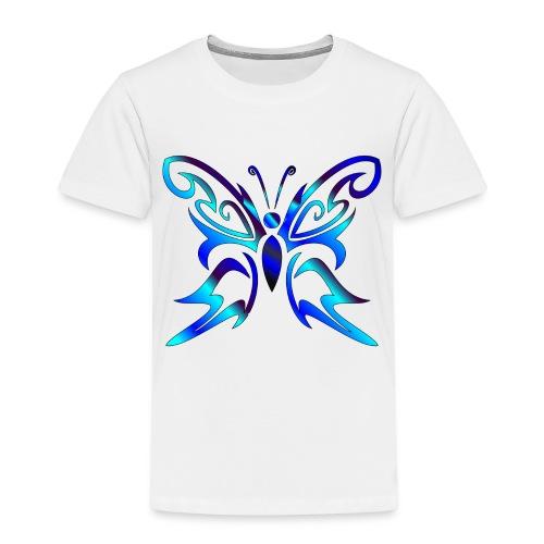 Tribal Weiss- Schmetterling - Kinder Premium T-Shirt