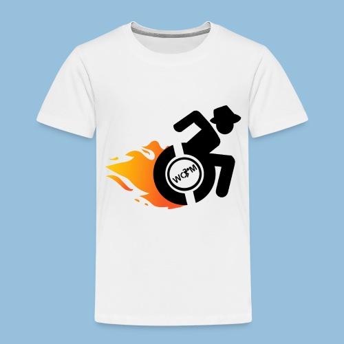 Roller met vlammen 014 - Kinderen Premium T-shirt
