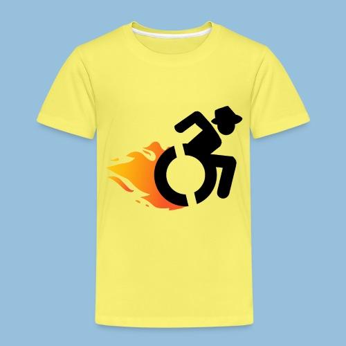 Roller met vlammen 016 - Kinderen Premium T-shirt