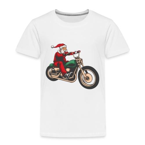Cool Christmas Santa Motor Biker - Kids' Premium T-Shirt