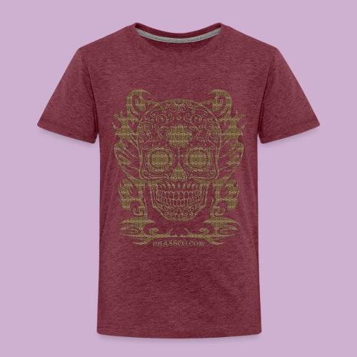SKULL FLOWERS LEO - Kinder Premium T-Shirt