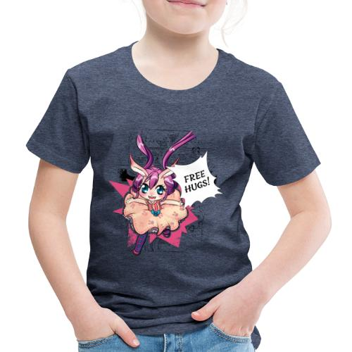 Free hugs (black lines) - Kids' Premium T-Shirt