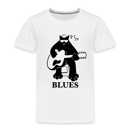 Blues Music Cat Guitar - Kids' Premium T-Shirt