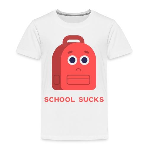 School sucks png - Kinderen Premium T-shirt