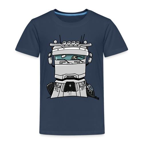 0813 R truck wit - Kinderen Premium T-shirt