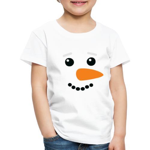 Snowman Face - Kinder Premium T-Shirt
