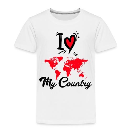 i love my contry - T-shirt Premium Enfant
