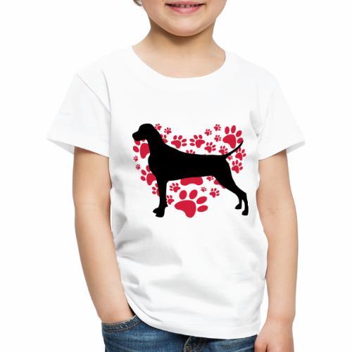 Weimaraner Heart - Maglietta Premium per bambini