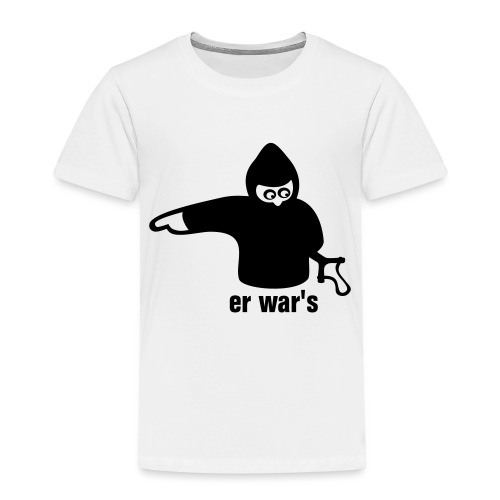 er war's - links - Kinder Premium T-Shirt